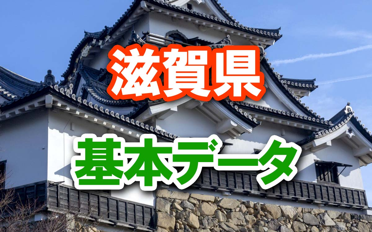 滋賀県の基本データ