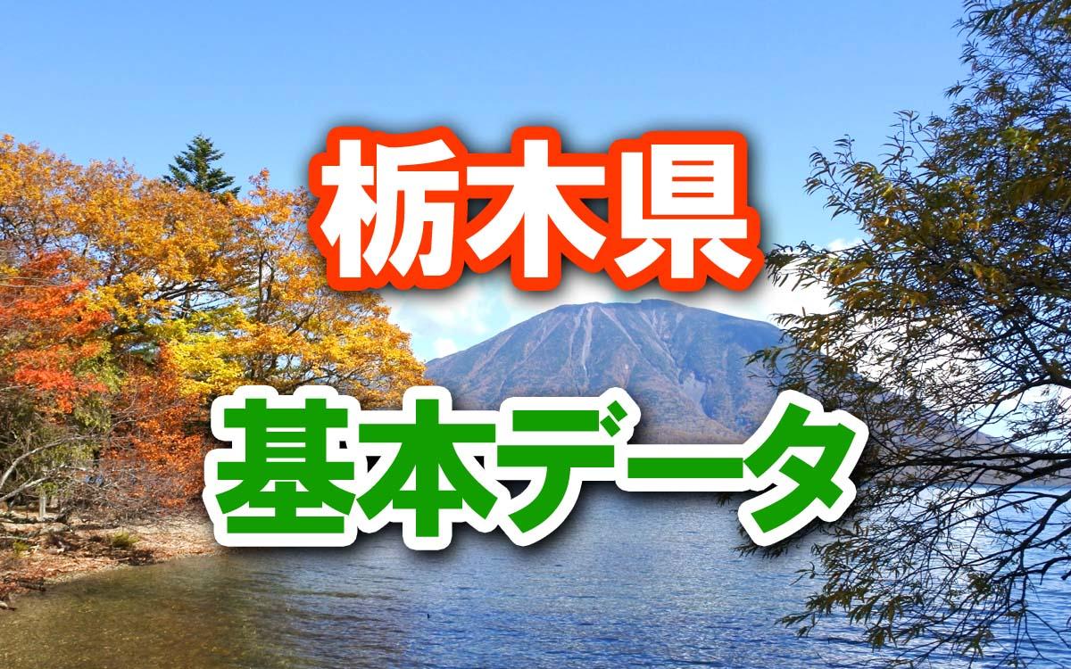 栃木県の基本データ