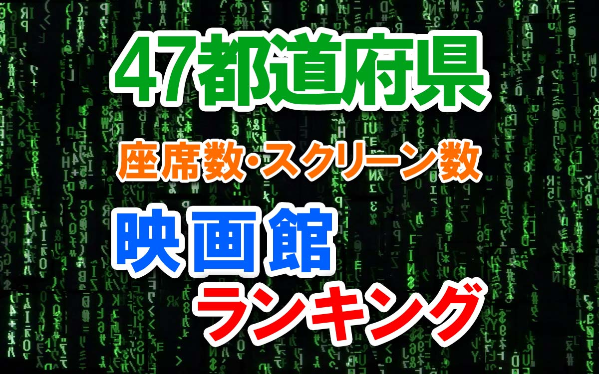 47都道府県の映画館ランキング
