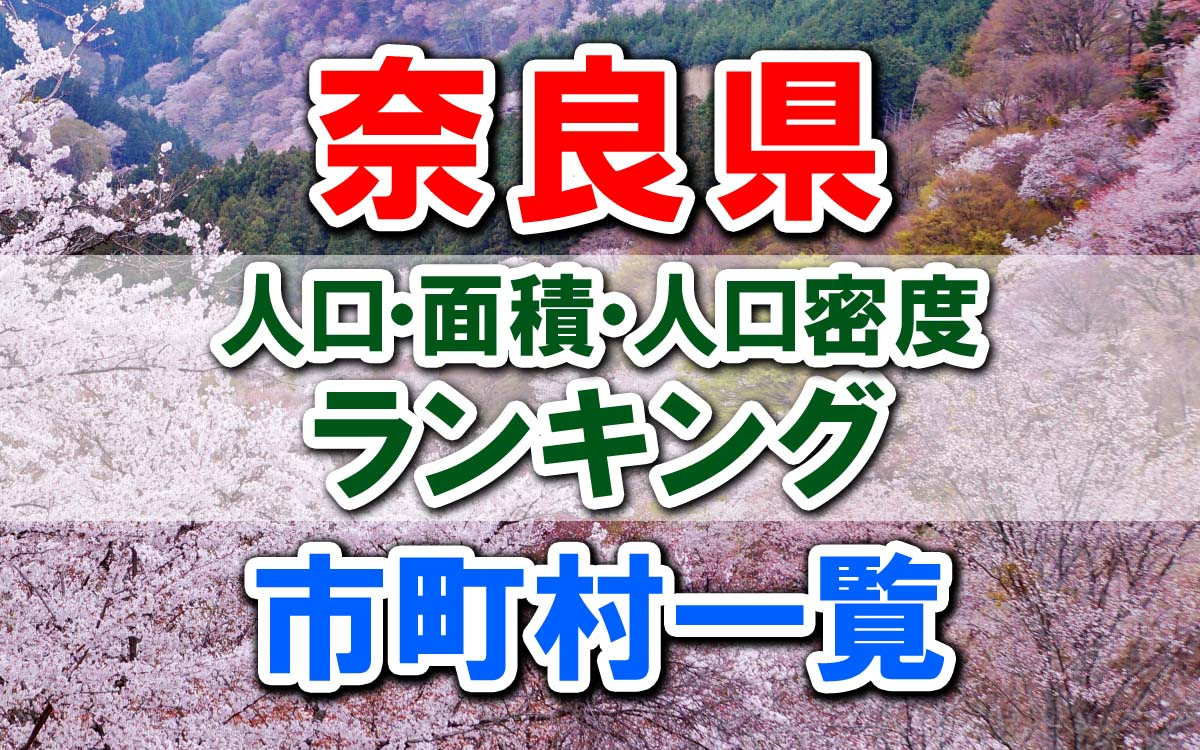 奈良県の市町村一覧