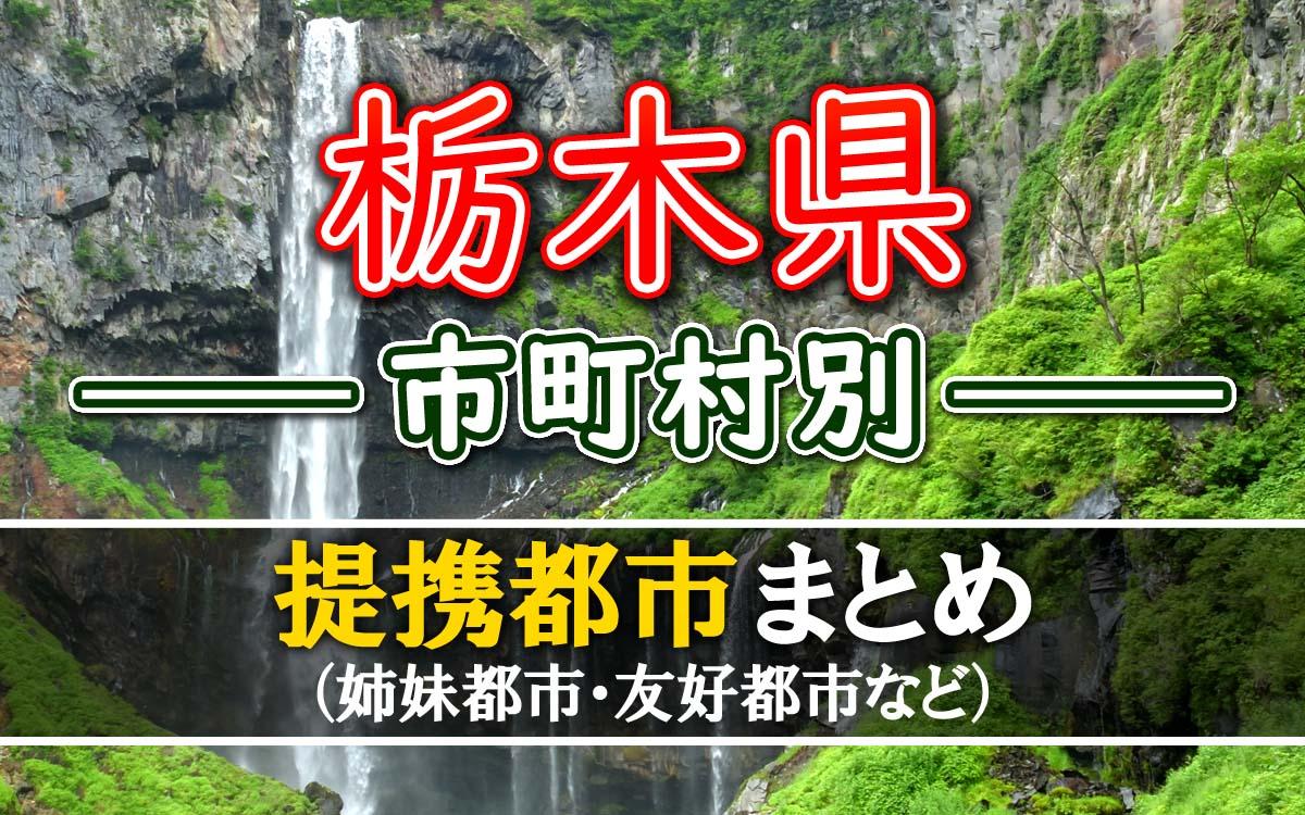 栃木県の提携都市