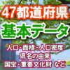 47都道府県の基本データ