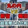 新宿・梅田・丸の内 高層ビル比較